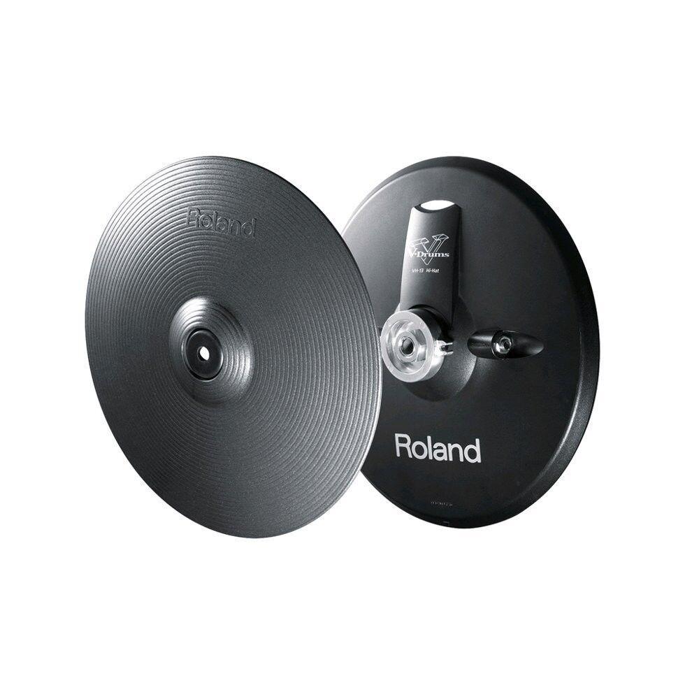 Neu  Roland Vh-13-mg V-Hihat Metallisch Grau aus Japan W