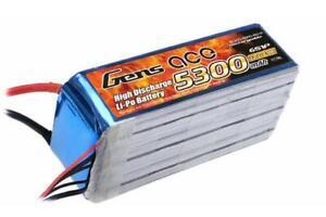 Batteria Lipo Gens Ace 5300mah 22.2v 30c 6s1p De L'Italie