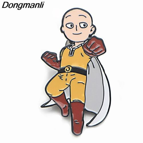 P3786 Dongmanli Anime ONE PUNCH-MAN Metal Enamel Brooches and Pins Collection