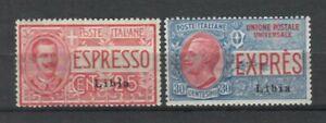 S34456 Libya 1915 MNH New Espressi 2v Saxon 1/2