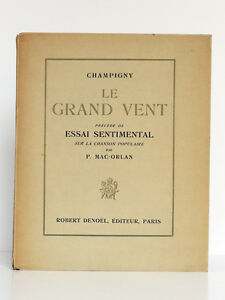 Le-Grand-Vent-CHAMPIGNY-Illus-Beatrice-APPIA-Essai-de-P-MAC-ORLAN-1929-ENVOI