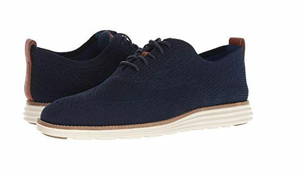 New COLE HAAN Mens Original Grand Stitchlite Wingtip Oxford shoes bluee C27960