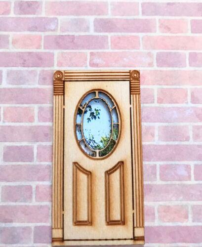 "Dollhouse Miniature  Laser Cut  Door 1//4 /"" Scale 4 D"