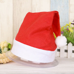 Unisex-Santa-Claus-Christmas-Hat-Red-And-White-Party-Hats-Holiday-Costume-Caps