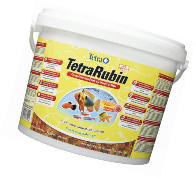 Tetra Rubin 10 L Farbfutter Flockenfutter Flakes Fischfutter