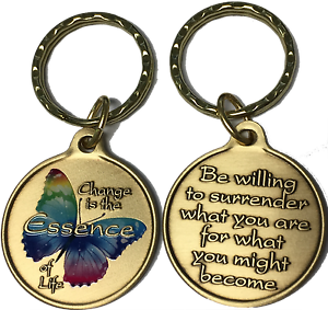 Image is loading Change-Essence-of-Life-Color-Butterfly-Surrender-Keychain- 81055a19fba9
