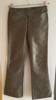 ## Next Jeans Pailletten Perlen Bronze Braun Schimmernd Gr. 36 Neuw. Boot Cut##