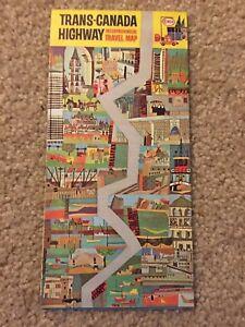 Vintage 1965 ENCO Trans-Canada Travel Map Road Map | eBay on