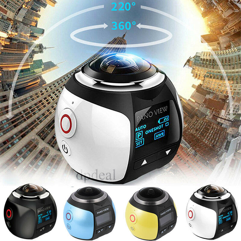 4K Wifi 360 Degree HD Ultra Panoramic Sport Camera Action Driving Helmet VR Cam Featured