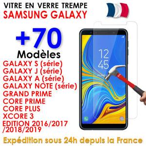 Vitre-Film-Protection-Verre-Trempe-Ecran-Samsung-S9-10-S8-A5-A6-J3-J4-J5-J6-Plus