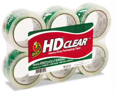 Duck Hd Heavy Duty Packing Tape Refill 6 Packs188 Inch X 546 Yard Clear