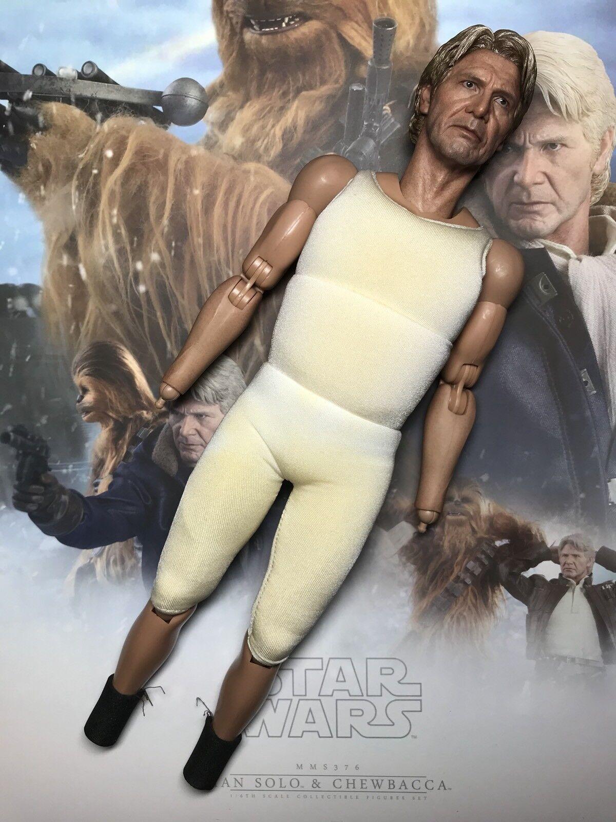 Hot Toys MMS376 Star Wars Han Solo & Chewbacca 1 6 Han solo Body W  Head