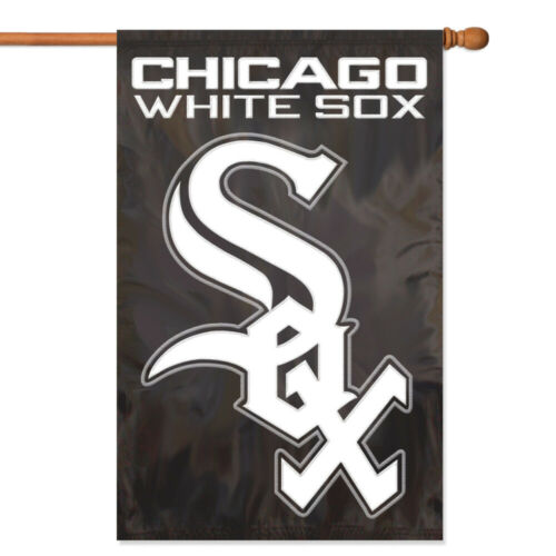 Chicago White Sox House Banner Flag PREMIUM Outdoor DOUBLE SIDED Embroidered