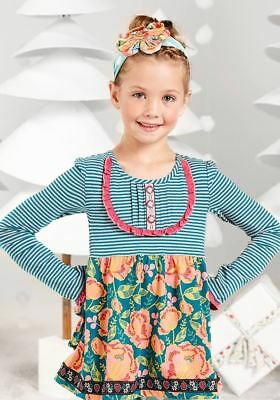 Matilda Jane Gallant Ruffle Back Tunic Once Upon A TIme NWT Girls sz 4 6  10