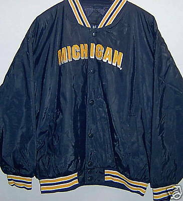 **new With Tags** Michigan Wolverines Button Down Jacket Adult Large Coat Lustrous Surface