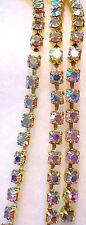 *4mm*  SS16 Crystal Aurora Borealis Rhinestone Chain SS