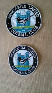 Vintage-Newcastle-United-1960-1980-sew-on-badge-patch-3-034-or-3-1-2-034-NOS-FREE-P-amp-P
