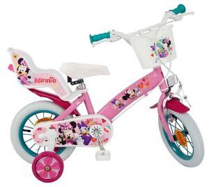 "12 Zoll 12"" Kinderfahrrad Fahrrad Mädchenfahrrad Disney Minnie Mouse Maus Bike"