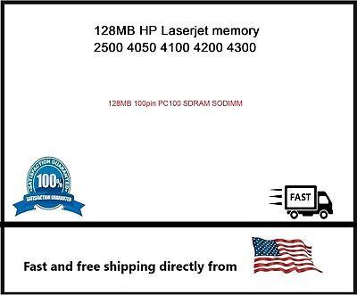 4200 3390 4300 C9121A 128MB RAM for HP LaserJet 1320 4100 5100 2300 9000