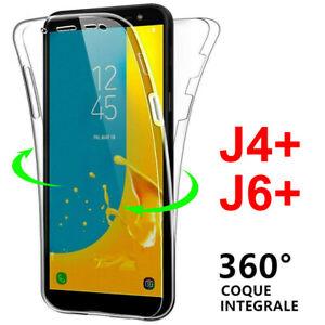 Cover Custodia Integrale 360° Samsung Silicone Galaxy J6 J6 Plus 2018 J4 Plus