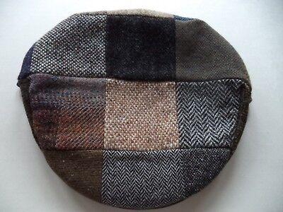 ad68edbd200 New XL Irish Donegal tweed flat cap patchwork Hanna Hat wool vintage style  7 3