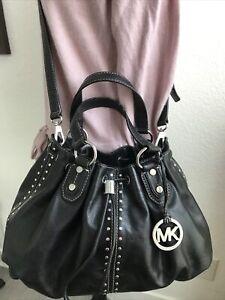 Michael-Kors-Astor-Studded-Black-Leather-Large-Ring-Tote-Shoulder-Bag-398