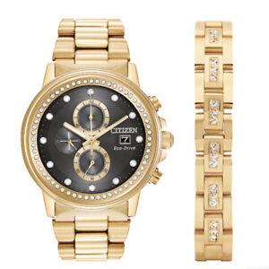 Citizen Men S Eco Drive Nighthawk Gold Black Dial Watch Fb3002 61e W