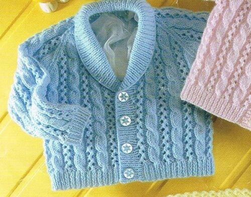 5 Tamaños Inc Recién Nacido Suéter Chaqueta De Bebé Jumper Tejer Patrón En Dk