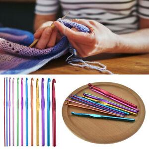 12-Set-Multi-Coloured-Aluminium-Crochet-Hooks-Yarn-Knitting-Needles-Set-2-8MM-CA