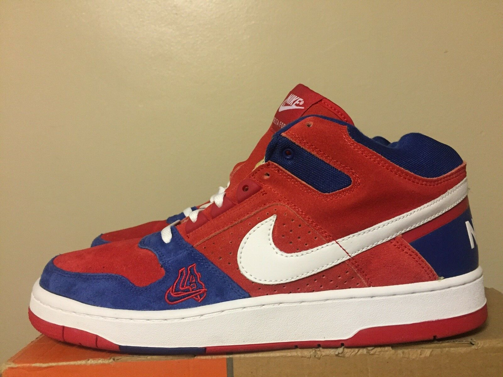 2003 Nike Air DELTA FORCE 3 4 1 LA CLIPPERS ED. RED WHITE blueE 309041-611 SZ.13
