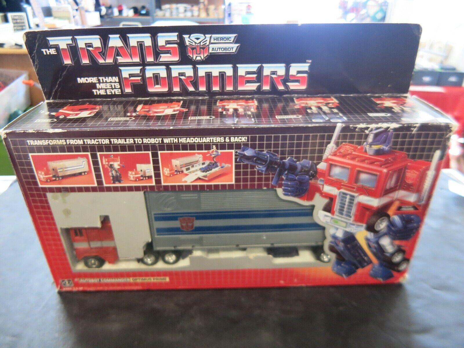 G1 TransFormers Carbot Commander  Leader Optimus Prime  OG 1984 Hasbro (H)