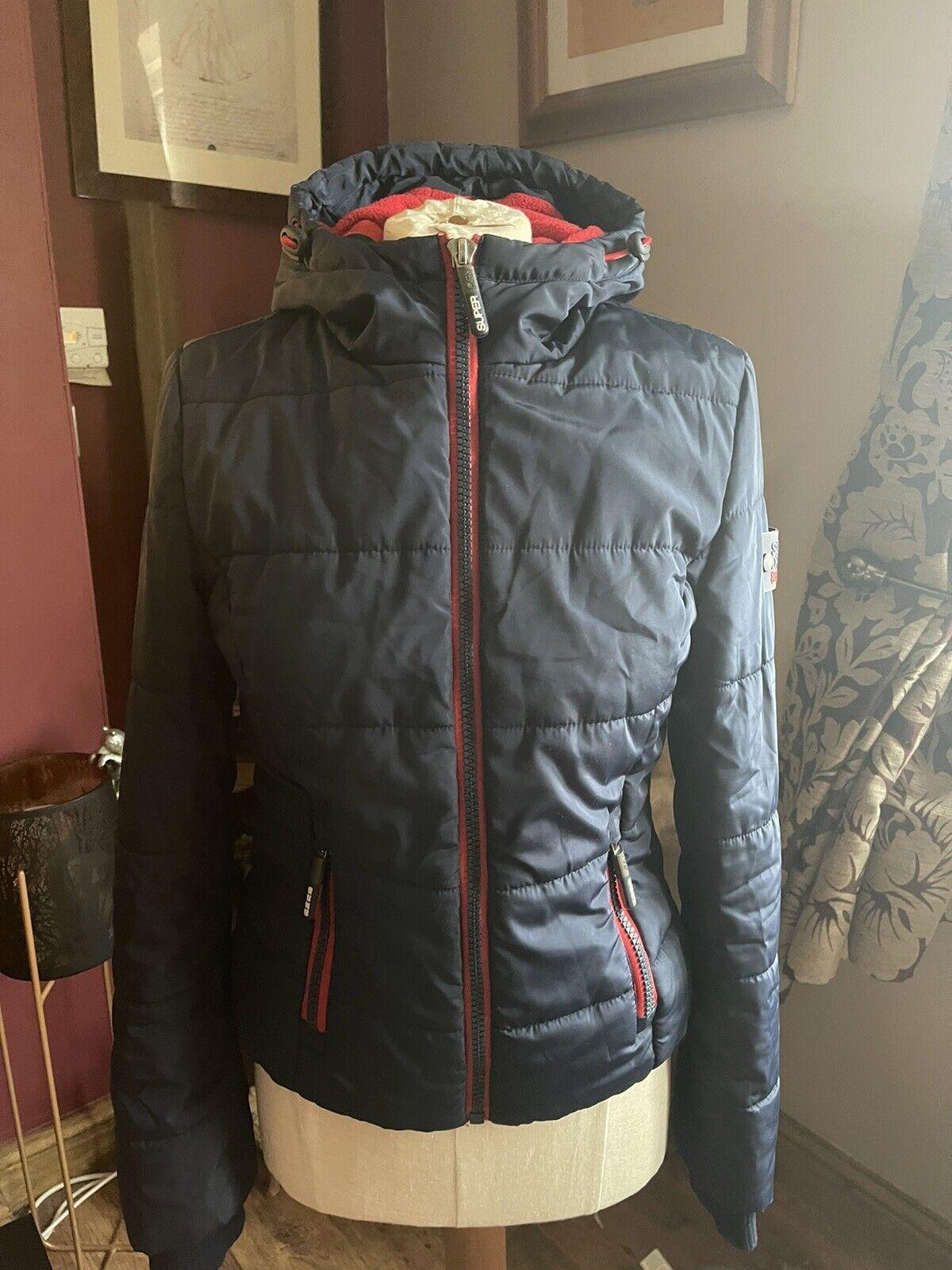 Superdry Sports Puffa Coat Size Xxs / 8