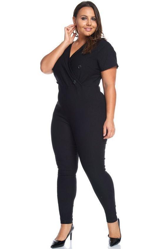 Plus Military Nautical Sailor Pinup Skinny Pant Suit 272 mv Jumpsuit 1XL 2XL 3XL