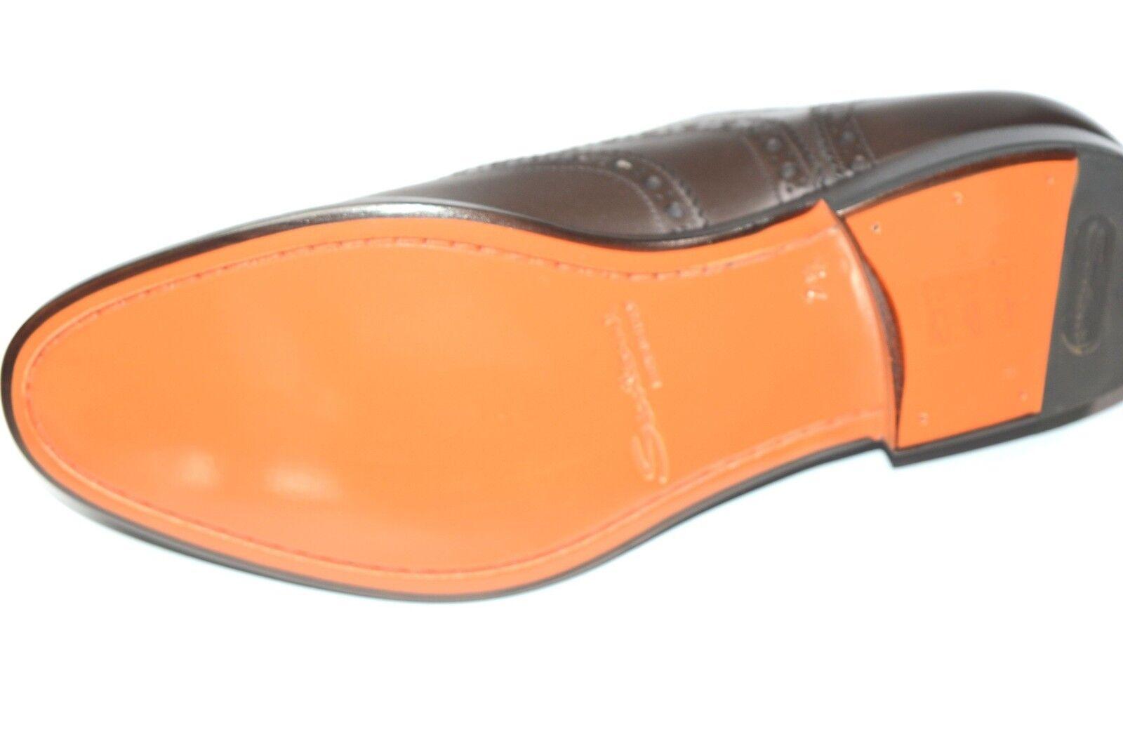 NEW NEW NEW SANTONI Dress Brown Pelle Shoes  SIZE Eu 46 Uk 12 Us 13 (50R) 099a30