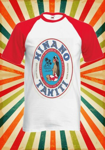 Hinano Beer Papeete Tahiti Men Women Long Short Sleeve Baseball T Shirt 1884