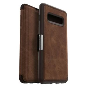 OtterBox-Strada-Samsung-Galaxy-S10-Leather-Wallet-Case-Cover-Burnt-Saddle-Brown