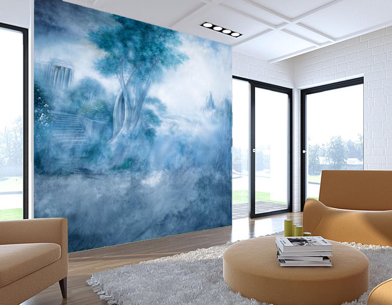 3D Neblig Landstraße 85 Tapete Wandgemälde Tapete Tapeten Bild Familie DE Summer  | Stilvoll und lustig  | Verrückte Preis  | Online Outlet Store