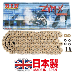 DID-SUPER-HEAVY-DUTY-X-RING-GOLD-MOTORCYCLE-DRIVE-CHAIN-520-ZVMX-118-L-LINKS