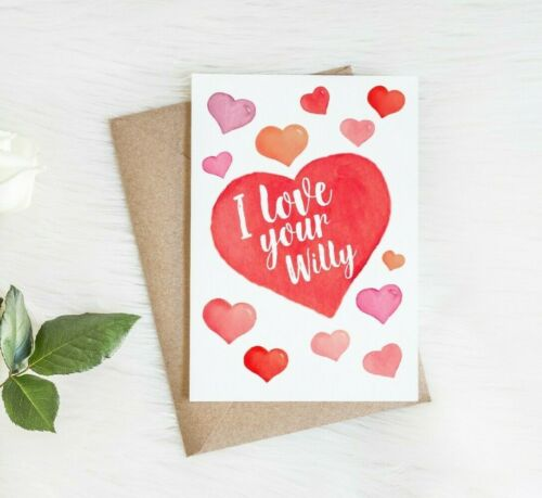 Funny Valentines Anniversary Card for him husband boyfriendI love your willy