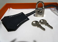 NEW HERMES EPSOM CLOCHETTE CADENAS LOCK & 2 KEYS FOR BIRKIN / KELLY / BOLIDE BAG