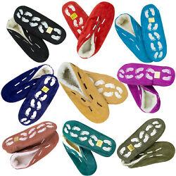 Hüttenschuhe aus echtem Leder Pantoffeln PUSCHEN Antirutsch Gr.35-52 Hausschuhe