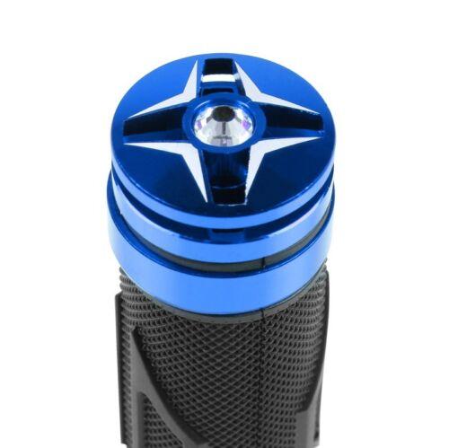 Motorrad-Griff Motea 7X blau Motorradlenker Griff Lenkergriffe 22mm Griffe