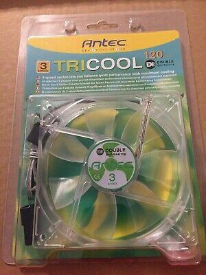 New Lot 2 Antec Tricool AT-12//SC Fan 3-Speed 120mm Case Fan 1600-2000 RPM
