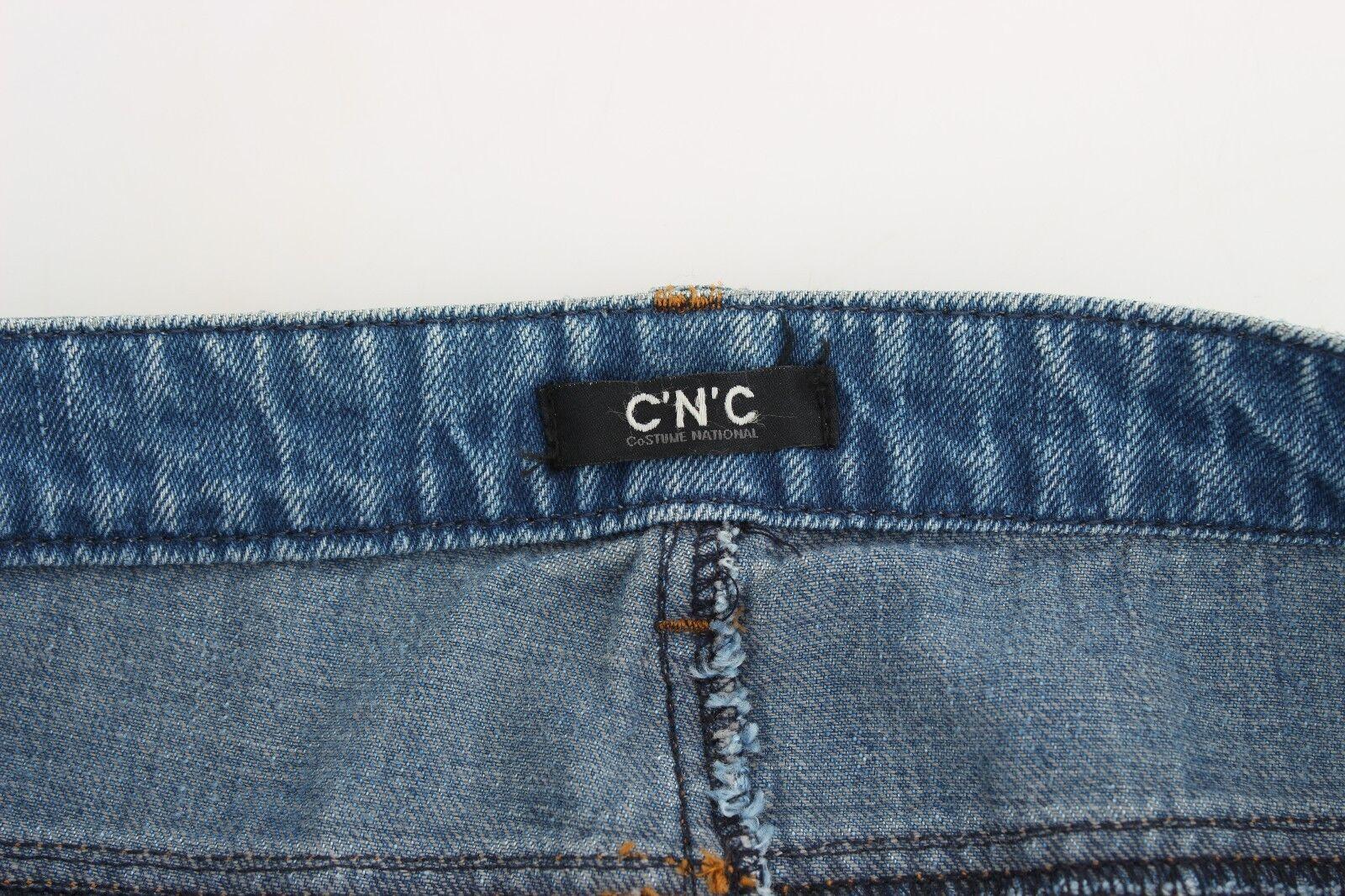 Nuevo Nuevo Nuevo C & 039;N& 039; C Costume National Vaqueros Azules Clásico Pierna Recta fce984
