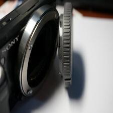 Rear Lens Cap + Camera Front Body Cover for Sony E-Mount NEX-3 NEX-5 Black 1pc