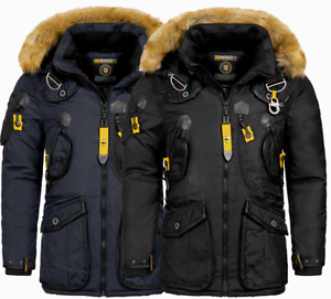 Details zu Geographical Norway Herren Winter jacke FVSA Parka Outdoor Mantel Luxus AGAROS