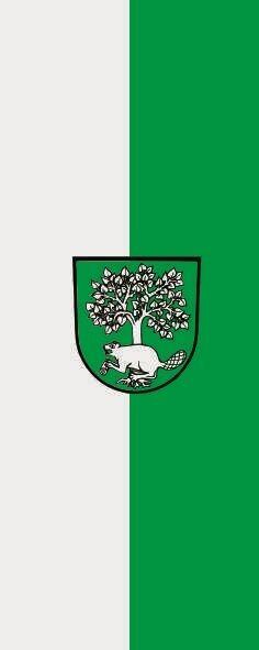 Fahne Flagge Biberach Gemeinde im Hochformat verschiedene Größen
