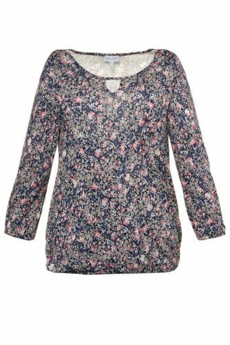 Gina Laura shirt Relaxed Fente gummisaum NEUF