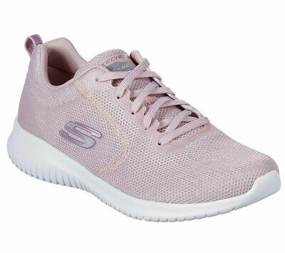 light pink skechers shoes memory foam women's sporty
