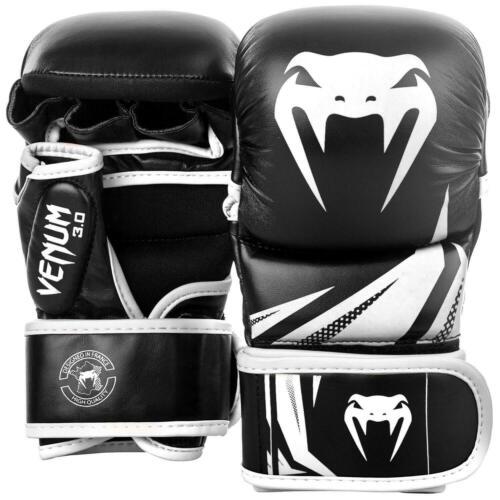 Challenger 3.0 Black White Venum MMA Sparring Gloves